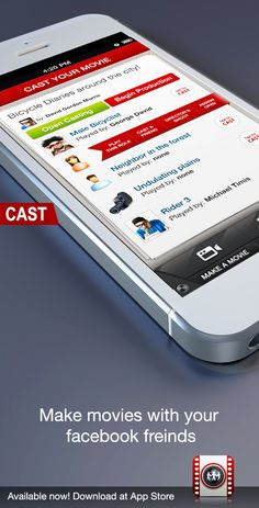 Cast your movies with yourself, your facebook friends, or anyone around you... facebook.com/actwithme Ios App, Creative Crafts, Acting, It Cast, Facebook, Friends, Movies, How To Make, 2016 Movies