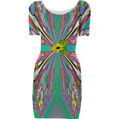 Green with Sunflower Belt Bodycon Dress from Print All Over Me