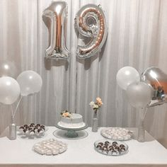 Simple Birthday Decorations, Balloon Decorations Party, 19th Birthday, Happy Birthday, Birthday Ideas For Her, Birthday Celebration, Balloons, Birthdays, Gifts