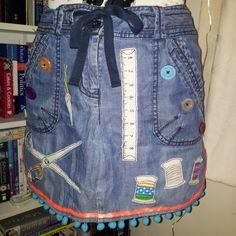 Pinny from upcycled jeans by Clobber-Creations.deviantart.com on @DeviantArt