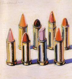 Wayne Thiebaud: Lipsticks