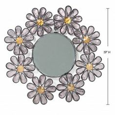 """Wake Up Frankie - Clear """"Crystal"""" Flower Wall Mirror - 50% off! : Teen Bedding, Pink Bedding, Dorm Bedding, Teen Comforters"""