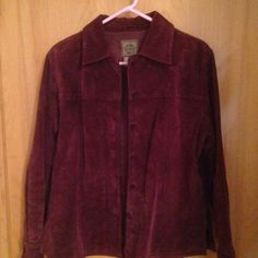 EUC burgundy maroon leather jacket