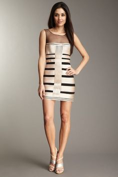 BCBGMAXAZRIA Centurian satin stripe dress with tulle (so sad it sold out, or this would be one of my graduation dresses)