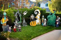 more information - Nightmare Before Christmas Lawn Decorations