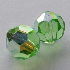150  Matt Lime Czech Crystal Glass 3mm Faceted Bicone Beads