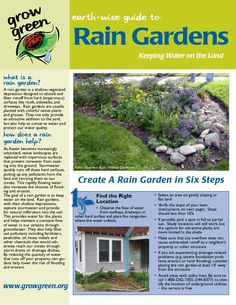 austin-texas-rain-garden-fact-sheet by Sotirakou964 via Slideshare