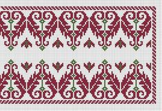 Folk Embroidery, Embroidery Patterns, Machine Embroidery, Cross Stitch Designs, Cross Stitch Patterns, Antique Quilts, Arts And Crafts Movement, Needlework, Diy And Crafts
