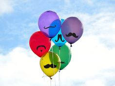 Moustache Sticker Pack for Baby Showers, Balloons, Coffee Cups, Car Window, Binders or For parties on Etsy, $10.00