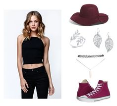 """""""maroon"""" by hcumins ❤ liked on Polyvore featuring Converse, LA: Hearts, Leith, Bling Jewelry and Wet Seal"""