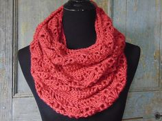Ravelry: Rouge Infinity Scarf pattern by Sheri Weber/The Country Willow