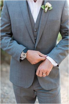 Groom's Grey Suit from Friar Tux featured on Style Me Pretty | Arizona Wedding Planner | Megan Dileen Events