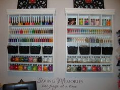 awesome organization for a few things- but I'm gonna need more than two... and where will I put all my Tim Holtz stuff.   LOL!!