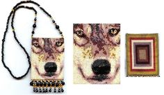 Wolf Beaded Amulet Bag by maddiethekat, via Flickr