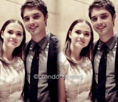 Maia Mitchell and David Lambert follow brandonfosters on Instagram for more post