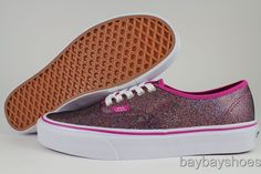 Pink sequin vans! These look AWESOME in real life!