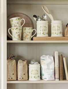 Hedgerow / A/W 2014 / Laura Ashley / Home Collection   Oh, I love this!!  Just makes me happy to look at these shelves!