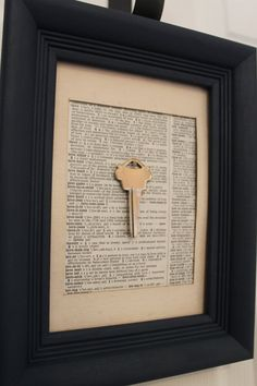 First house key framed with Joshua 24:15.  As for me and my house...