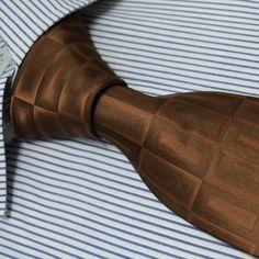 Designer Fashion Gift Necktie Brown Ties Theme Neck Tie for Men Woven Pure Silk Mens Neckwear Neck Tie Set P5060