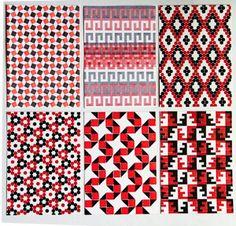 "Dikko Faust, ""Tesselation Prints."" Dikko will teach ""Modular Pattern Letterpress"" at Penland July 10-22, 2016. More information: http://penland.org/print/index.html"