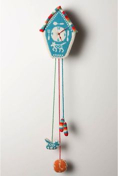 Fair Isle Sweater Clock! golly!