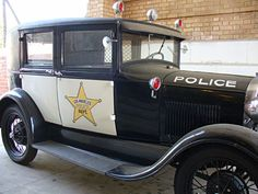 LAPD vintage police car BECAUSE ONE DOES NOT SIMPLY LEAVE THEIR OWN WEDDING