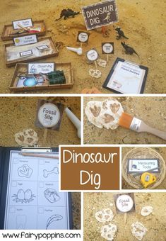 printables dinosaur dramatic poppins fairy play dig Dinosaur Dig dramatic play printables Fairy PoppinsYou can find Play based learning and more on our website Dinosaurs Preschool, Dinosaur Activities, Dinosaur Printables, Family Activities, Kindergarten Activities, Dinosaurs For Kids, Health Activities, Gross Motor Activities, Dramatic Play Area
