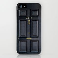 Classic Old sherlock holmes 221b door iPhone 4 4s 5 5c, ipod, ipad, tshirt, mugs and pillow case iPhone & iPod Case