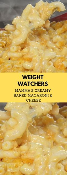 Weight Watchers Mamma's Creamy Baked Macaroni & Cheese so delicious, healthy and comfort food. INGREDIENTS: 8 ounce shredded Kraft M. Weight Watchers Sides, Weight Watchers Pasta, Weight Watchers Lunches, Weight Watchers Meal Plans, Weight Watcher Dinners, Weight Watchers Desserts, Weight Watchers Casserole, Best Mac N Cheese Recipe, Macaroni Cheese Recipes