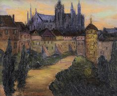 """""""Prague, Summer,"""" Fern Isabel Coppedge, 1925, oil on canvas board, 10 1/8 x 12"""", private collection."""