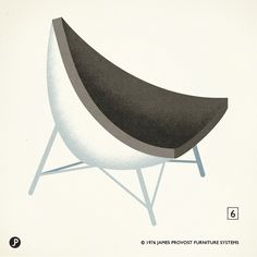 "6. ""Coconut chair"" George Nelson. 1955. Herman Miller."