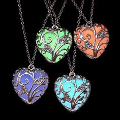 (NEW) Glow In the Dark Heart Chakra Locket