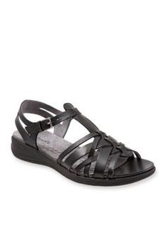 Softwalk Black Taft Sandal