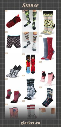 Stance | Shop millions of products from around the web | socks accessories women crew snow tights underwear boxer briefs clothing wade in dwayne cotton-blend men socks, with athletic print low | glarket.co