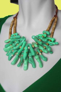 Mint Green Coral Necklace / Branch Jewelry / by BossyMossyBeads, $49.00