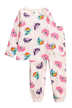 Pyjamas with a long-sleeved top and bottoms in soft cotton jersey. Top with a print motif on the front. Bottoms with an elasticated waist and ribbed hems. Little Girl Outfits, Toddler Girl Outfits, Cute Outfits, My Little Pony Pajamas, Unicorn Fashion, Halloween Costumes For Teens, Colorful Hoodies, Baby Girl Fashion, My Baby Girl