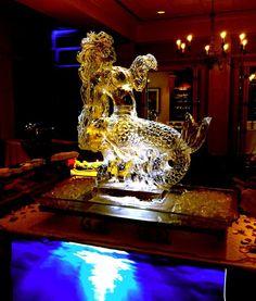1 1/2 block mermaid ice sculpture. #icesculptures