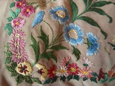 c1920's silk embroidery