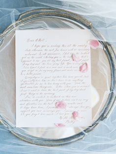 gold calligraphy wedding love note