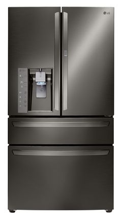 30 CU.FT. 4-door French Door Refrigerator W/ Customchill™ Drawer (Black Stainless Steel Series)  Fresh and cool, inside and out. The LG Black Stainless Steel Series 4-door French Door Refrigerator with CustomchillTM Drawer is versatile in both performance and aesthetics. Put it in any kitchen of any style, and it's sure to be your next statement piece.