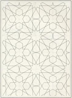 Pattern in Islamic Art - BOU 070 Islamic Art Pattern, Arabic Pattern, Pattern Art, Print Patterns, Pattern Design, Arabic Design, Arabic Art, Geometric Patterns, Geometric Art