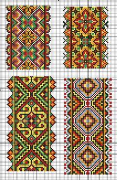 Cross Stitch Borders, Cross Stitch Charts, Cross Stitch Designs, Cross Stitching, Cross Stitch Patterns, Folk Embroidery, Cross Stitch Embroidery, Embroidery Patterns, Bead Loom Patterns