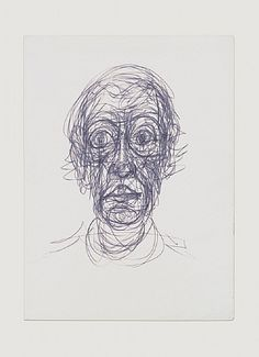 Image result for giacometti head drawing