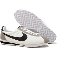 c10835aabfdf Men Nike Cortez Oxford Cloth Shoes White Black Gray