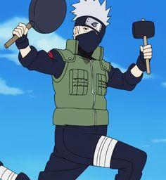 It doesn't matter what he's doing, Kakashi Sensei always looks fabulous. Anime Naruto, Naruto Kakashi, Kakashi Memes, Kakashi Funny, Naruto Shippuden Anime, Otaku Anime, Kakashi Hatake Hokage, Wallpaper Naruto Shippuden, Naruto Wallpaper