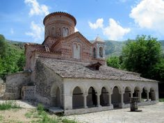 Labova of the Cross Church (Ano Labov e Kryqit) at Libohova near Gjirokaster, Albania, once contained a relic thought to be part of the true cross of Christ. Albania, Christ, Southern, Mansions, House Styles, Luxury Houses, Palaces, Mansion, Mansion Houses