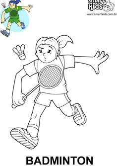 Badminton, Illustration, Online Coloring, Physical Education Activities, Canoeing, Cartoon, Honey, Handmade Crafts, Hs Sports