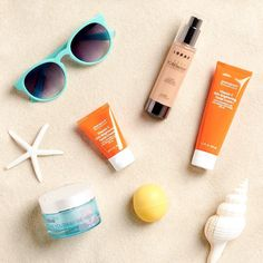 Sun, sand and SPF. Shop ☀️ safe beauty in our bio.