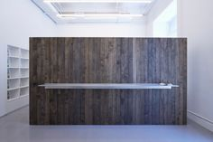 Entry wall at Longhouse Projects., Glickman Schlesinger Architects | Remodelista Architect / Designer Directory