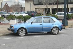 My first car. 1983 Dodge Colt. It was this color, too. 1987-1989